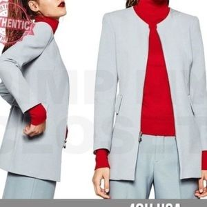 NWT Zara Basic Collection Light Blue Coat